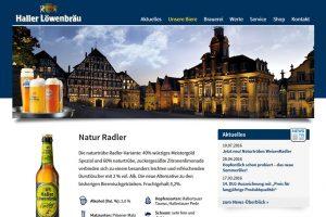 Haller Löwenbräu - Wordpress CMS & Woocommerce Onlineshop