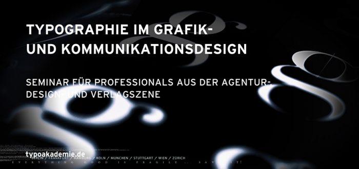 Typographie Seminar in Stuttgart für Professionals aus der Agentur-, Design- und Verlagszene